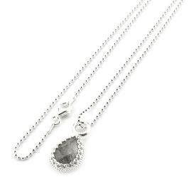 13994. Halskette mit graue Quarz