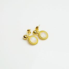 OHCHA157. Mondstein & Silber 925 vergoldet