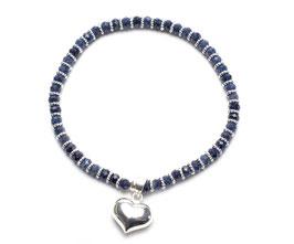 14101. Saphir & Silber 925
