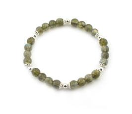 14204. Armband Labradorit & Silber 925