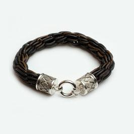 10611. Armband Leder & Silber 925