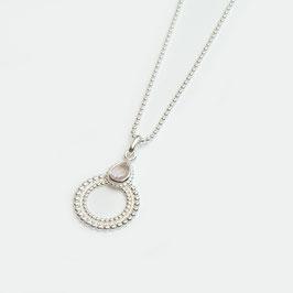 12020092.080.KT. Halskette Silber 925 & Rosenquarz