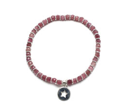 14095. Armband rosa Turmalin & Silber 925