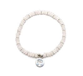 14094. Armband Rosenquarz & Silber 925