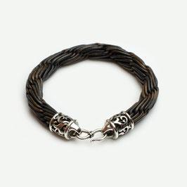 10015. Armband Leder & Silber 925