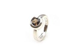 R0320.56. Ring Rauchquarz & Silber 925