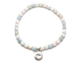 14075. Armband Beryll & Silber 925