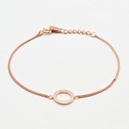 """13718. Armband """"Circle"""" Roségold"""