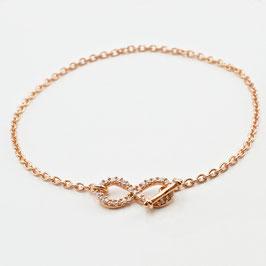 """13713. """"Infinity"""" Roségold Armband"""