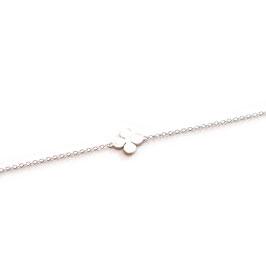 47.0080.14/17.5. Filigran Armband mit Kleeblatt Silber 925