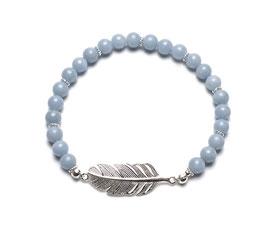 14088. Armband Angelit & Silber 925