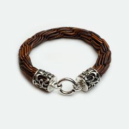 10610. Armband Leder & Silber 925