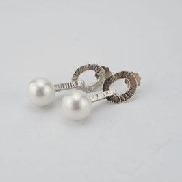 MY06.Muschelkern Perlen &  Silber 925