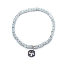 14091. Armband Aquamarin & Silber 925