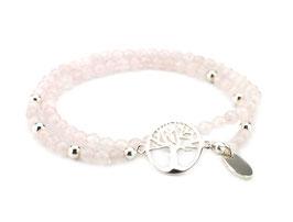 14011. Rosenquarz Armband