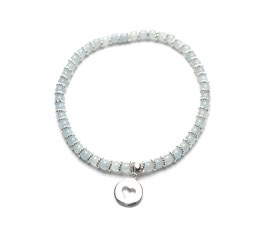 14090. Armband Aquamarin & Silber 925