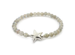 14174. Armband Labradorit & Silber 925