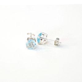 OH232.BT. Blaue Topas & Silber 925