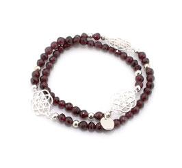 14012. Granat Armband