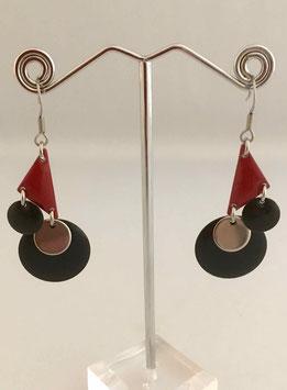 Boucles d'oreilles - Rouge & Noir 1