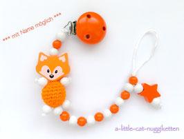 Nuggikette 3D-Fuchs orange
