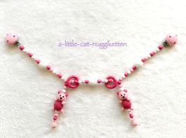 "Kinderwagenkette ""rosa Bären"""