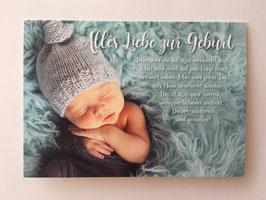 Glückwunschkarte *Baby mit Mütze*