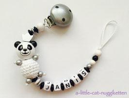 "Nuggikette 3D-Pandabär ""Janis"""
