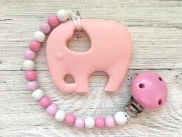 "Beisskette ""Elefant rosa"""