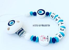 Nuggikette Türkisches Auge blau