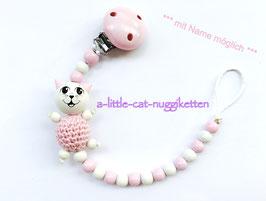 Nuggikette 3D-Katze rosa