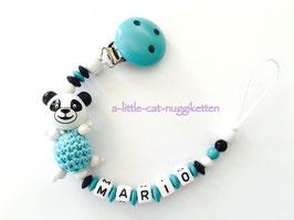 """Nuggikette 3D-Pandabär """"Mario"""""""