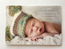 Glückwunschkarte *Baby schlafend*