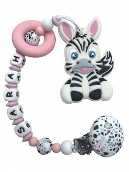 """Beisskette """"Zebra rosa"""""""
