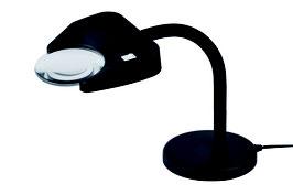 Lupenleuchte LED Tischfuß von Schweizer Optik
