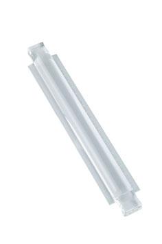SCHWEIZER Lesestab aus Plexiglas 200 x 25 mm / 250 x 32 mm, mit Lineal
