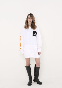 NORTH OF GERMANY SPECIAL HOODIE DRESS ARCTIC WHITE BLACK PEACE