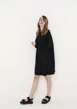 NORTH OF GERMANY SPECIAL OVERSIZED AVANTGARDE  LONG SHIRT DRESS BLACK