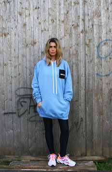 NORTH OF GERMANY SPECIAL HOODIE DRSS GLIMMER ANKER CORNFLOWER BLUE