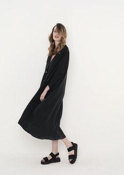 NORTH OF GERMANY SPECIAL LONG BOHO DRESS WASHED BLACK AMOR
