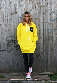NORTH OF GERMANY SPECIAL HOODIE DRESS GLOTZ NICHT SO SUN YELLOW