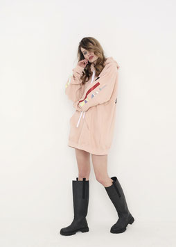 NORTH OF GERMANY SPECIAL HOODIE DRESS PEACH PERFECT DON´T TOUCH ME I´M MAGICAL