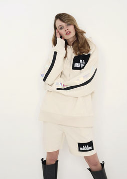 NORTH OF GERMANY ORGANIC COTTON OVERSIZED RELAXED FIT HOODIE NATURAL RAW DONT ASK ME