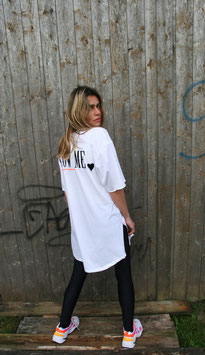 NORTH OF GERMANY LONG SHIRT WHITE FOLLOW ME LITTLE BLACK HEART