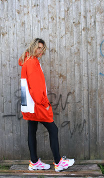 NORTH OF GERMANY SPECIAL HOODIE DRESS MYSTIC ISLAND SUNSET ORANGE