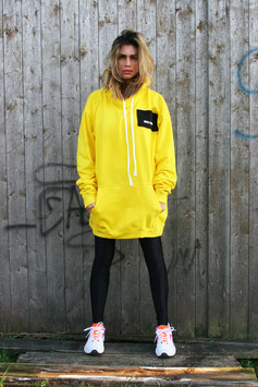 NORTH OF GERMANY SPECIAL HOODIE DRESS SUN YELLOW MOIN