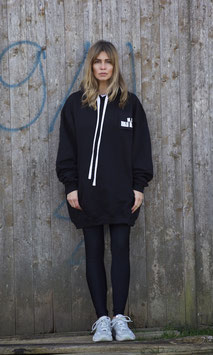 NORTH OF GERMANY SPECIAL HOODIE DRESS JET BLACK DANKE.CIAO!