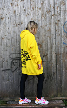 NORTH OF GERMANY SPECIAL HOODIE DRESS GLIMMER INSEL SUN YELLOW