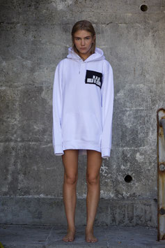 NORTH OF GERMANY ORGANIC COTTON HOODIE WHITE RESTRICTED AREA WOMEN