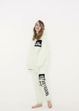 ORGANIC COTTON OVERSIZED RELAXED FIT HOODIE STEM GREEN LOVE YOU YOU FUCKING LOVE